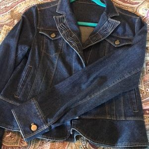 Chico's Denim Jacket Size 6